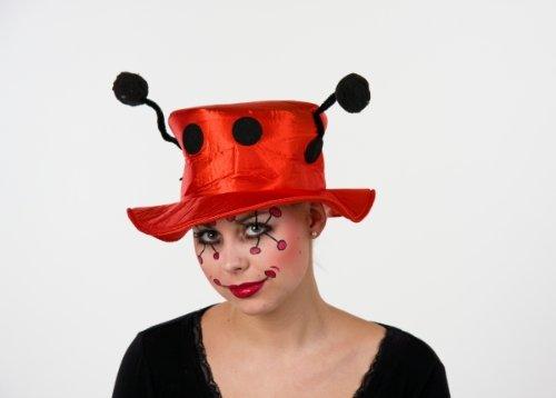Marienkäfer Hut Karneval Zubehör passend zum Käfer Kostüm Fasching (Marienkäfer Hut)