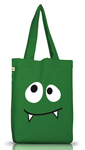 ER VAMPIRE, Karneval Fasching Kostüm Jutebeutel Stoff Tasche Earth Positive, Größe: onesize,Moss Green (Monster Energy Kostüm)