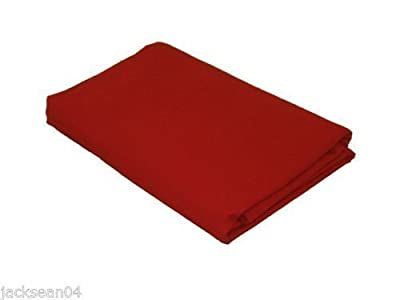 King Size Red Luxury Cotton 76/68 Pick Fitted Sheet Bed Linen