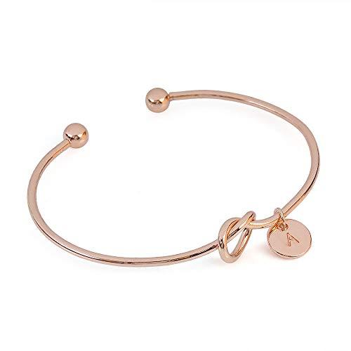 UINGKID Damen-Armband Charm Kreative Stilvolle Europäischen und amerikanischen Stil Herzform Metall einfach geknotet 26 Buchstaben -