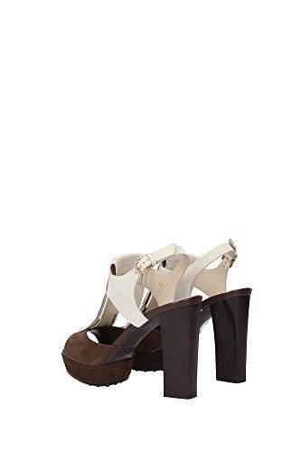 XXW0TL0J87006S042O Tod's Sandale Femme Chamois Marron clair Marron Clair
