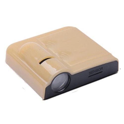 dodolive be-logo-10be-2pcs der kabellos Auto Tür LED Projektor, Licht, Höflichkeit, Welcome Logo, Shadow Ghost Light-Laser-Projektor, Magnet Sensor, Lampen Kit, Universal (Shadow Ghost)