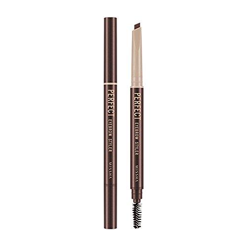 Missha - Waterproof Perfect Eyebrow Styler - Augenbrauenstift mit Bürste - Augenbrauenfarbe -...