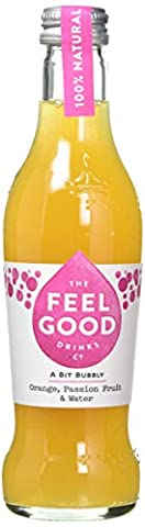 Feel Good Orange and Passion Fruit Sparkling Juice 275 ml (Pack of 24)