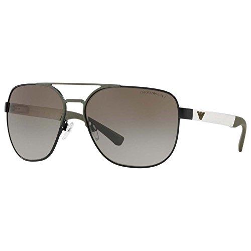 Emporio Armani Herren 0EA2064 Sonnenbrille, Schwarz Black/Matte Olive, 62