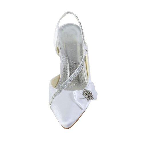 Jia Jia Wedding A3121 chaussures de mariée mariage Escarpins pour femme Blanc