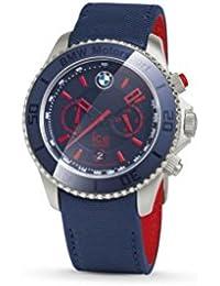 BMW Genuine Motorsport Steel Chrono ICE Watch Leather Strap Waterproof