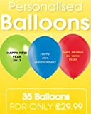 100 Personalised Balloon METCHERRY-RED colour 11 Inch qualtex