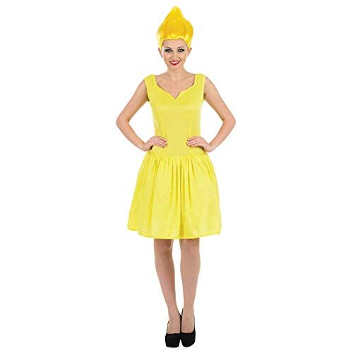 Fun Shack Damen Costume Kostüm, Yellow Pixie, Größe S