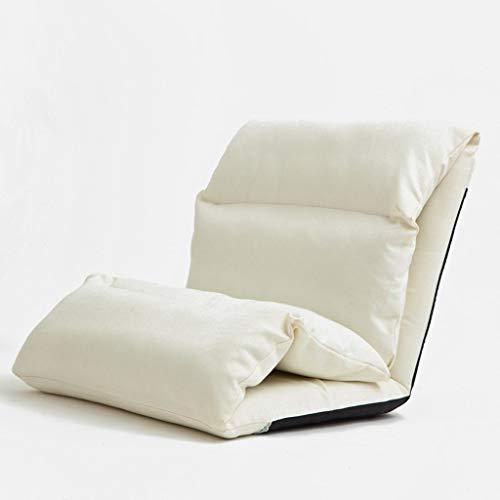 YXNN Faltender Recliner-fauler Sofa-Fußboden-Stuhl Eingebaute Stahlplatte-Schwamm-Fülle 6 Winkeleinstellung Rückenlehne Abnehmbarer Beweglicher Freizeit-Sitz 215X65cm (Color : White) -