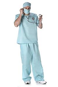 Karnival- Male Surgeon Costume Disfraz, Color verde, extra-large (82093)