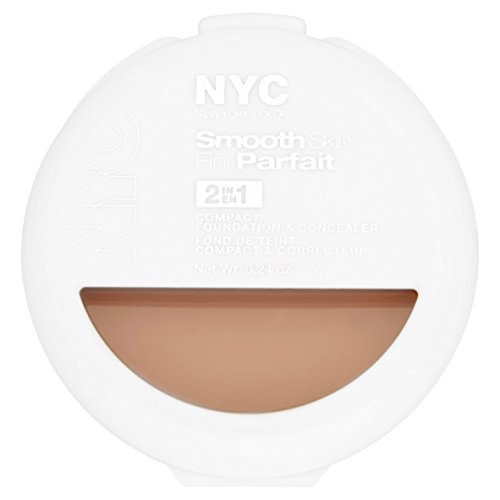 NYC Smooth Skin 2 In 1 Compact Foundation & Concealer 7g-002 Light