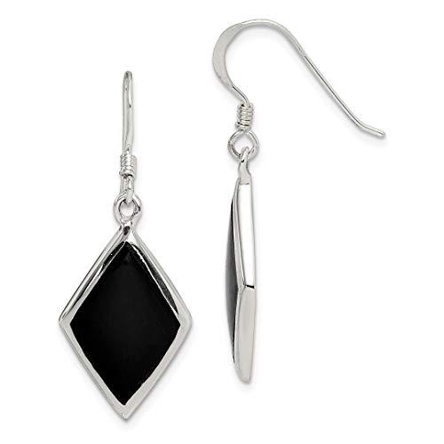 925 Sterling Silver Black Stone Drop Dangle Chandelier Earrings Fine Jewelry Gifts For Women For Her