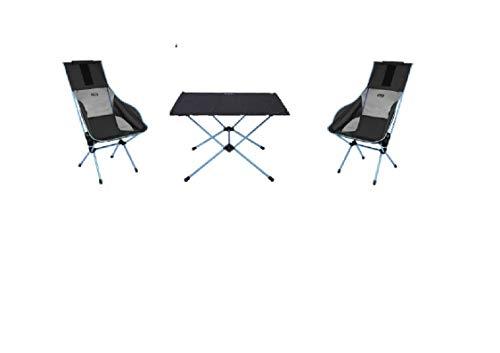 MOVERA Confort Kit de Camping – Seulement 4,6 kg – 2 chaises Sunset Chair + Table One Hard Top L – Helinox – Entraînement par Holly Produits Stabielo