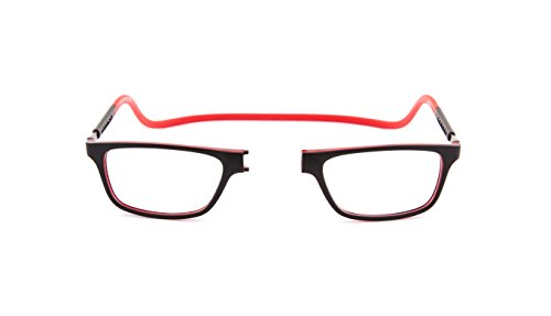 Slastik Magnetisch Clic Stil Lesebrille Rahmen Jabba 006 Brechkraft +1.50 mit weichem Brillentui