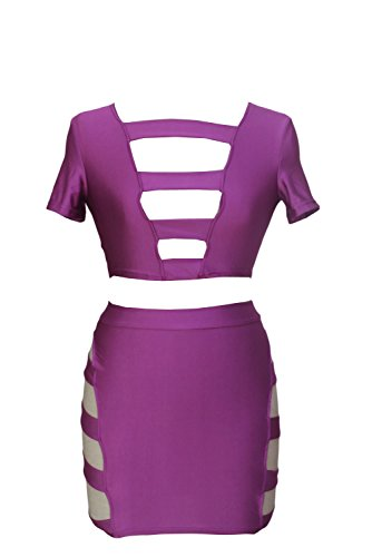 Dissa® Deman Violett SY21050 cocktail kleid Violett