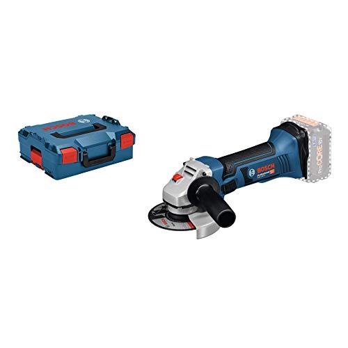Bosch Professional 18V System Akku Winkelschleifer GWS 18 V-LI (Leerlaufdrehzahl: 10.000 min-1, Scheiben-Ø: 115 mm, ohne Akkus und Ladegerät, in L-BOXX)