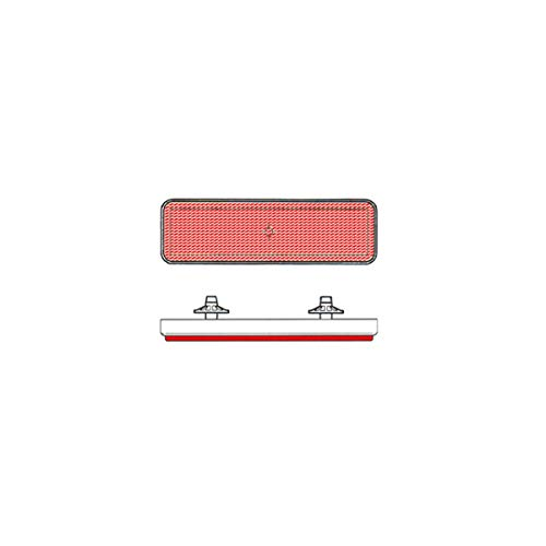 Reflector Cuadrado Trasera Rojo