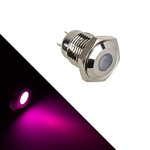Lamptron Vandalismus-gesicherte LED – violett, Silberne Fassung