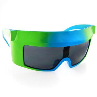 Grün/Blau  Tye Dye Kanye AMA Shutter Shades  Sonnenbrille SG334/GRN
