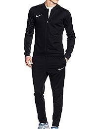 83dc57b79ba Nike Mens Academy 16 Knit Black Dri Fit Black White Football Warm Up Full  Tracksuit (