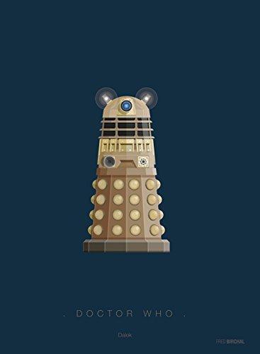 Paintings Frames Tribute Art Poster Doctor Who Dalek Kostüm, 300 g/m², mit Rahmen und Passepartout (Who Kostüm Doctor Dalek)