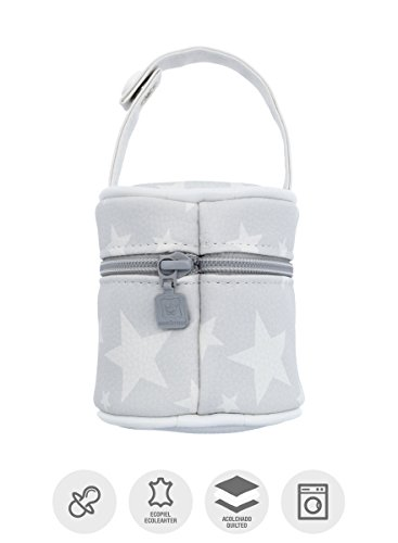 Imagen para Cambrass Etoile - Porta chupete, 8.5 x 8.5 x 11 cm, color gris