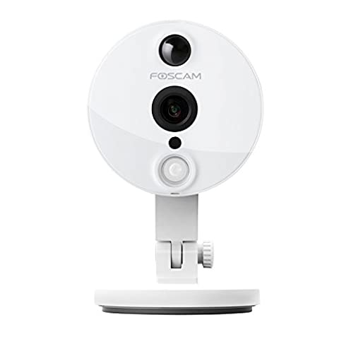 Foscam C2 1080P FHD Mini Wireless Indoor IP Camera for Home Security. Plug & Play with 120° Wide Viewing Angle, PIR Motion Detection and 8 Metre Night Vision - White