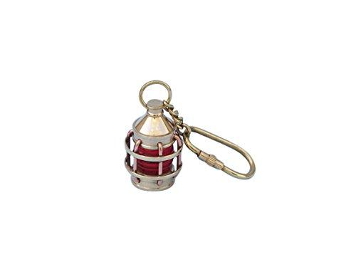 Hampton Nautisches massivem Messing Anker rot Laterne Schlüsselanhänger, 12,7cm (Messing Laterne Nautische)
