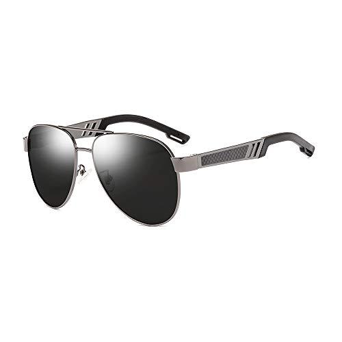 GXM-FR Farbwechselnde Sonnenbrillen, Smart Sensitized UV400-Schutzbrillen für Tag und Nacht, polarisiertes Fahren für Männer und Frauen, Angeln, Golf Metal Spring-Brillen,C