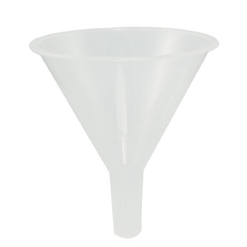 Sonline 120ml 4 9/10 Mouth Dia Laboratory Clear White Plastic Filter Funnel