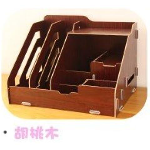 AQPDJ Ammissione in legno informativa portacartuccia cartella cremagliere forniture per