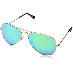 Elegante Aviator Men Sunglasses (AVTGLDGRNMER|59|Green)