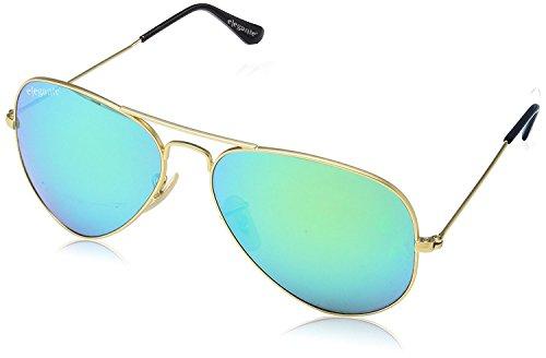 Elegante Aviator Men Sunglasses (AVTGLDGRNMER|59|Green)
