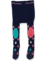 Sterntaler Krabbelstrumpfhose Sterne für Mädchen, ABS-Sohle, Alter: 5-6 Monate, Größe: 74, Grau (Silber Melange)