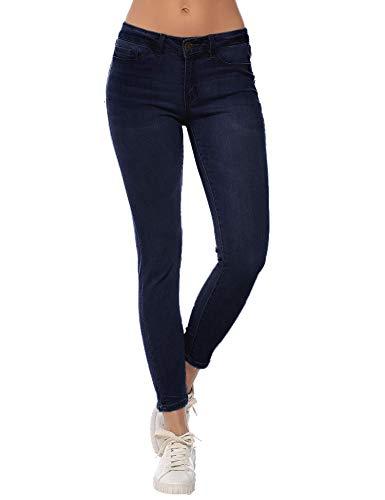 Resfeber Damen Boyfriend Jeans Distressed Slim Fit Ripped Jeans Comfy Stretch Skinny Jeans - - 46 - Ripped Boyfriend Jeans