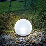 Solar-powered Spherical Light 20 cm Solar Light Esotec 102609 7 Light Colours Continuous or Changing Light 8 hours battery life