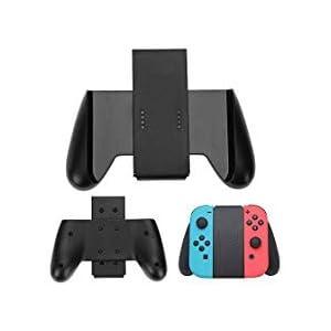 tutuo Komfort Griff Griff mit Kontrollleuchten für Nintendo Schalter Joy-Con (Schwarz)
