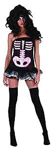 Ciao-Costume Sexy Skeleton donna, taglia unica adulto Disfraces, color negro, (62174)