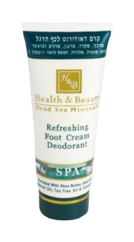 H&B Dead Sea Refreshing Foot Cream Deodorant by H&B Dead Sea (Des Mineralien Creme Fuß Toten Meeres)