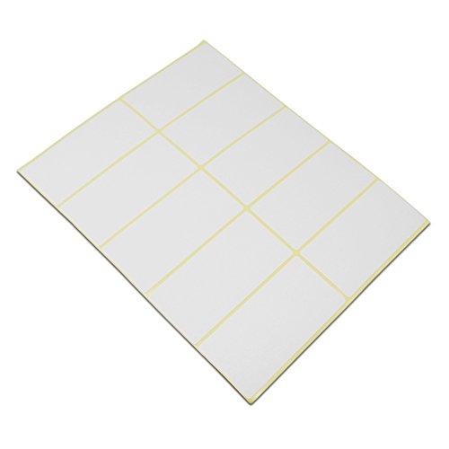 Blanko Rechteck weiß versandadresse Büro Produkt Tags Selbstklebende Schule Note Name geschrieben Mailing Supplies Etiketten, Inventar Essential Aufkleber 1.5x3.0 inch/750 pieces(75 sheets) weiß