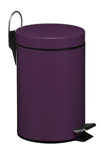 premier housewares 3 l stainless steel pedal bin purple