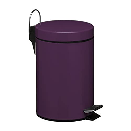 Premier Housewares 3 L Stainless Steel Pedal Bin   Purple