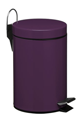 Premier Housewares 3-L Stainless Steel Pedal Bin - Purple