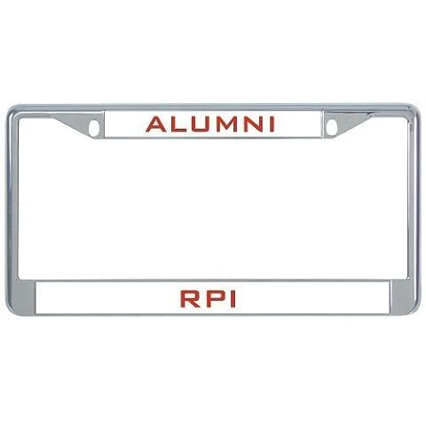 IMG Rpi Metal License Plate Frame in Chrome Alumni