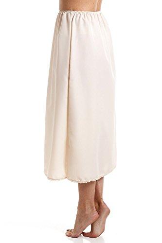 Damen Unterrock mit Spitze - Länge 81 cm - Beige Beige