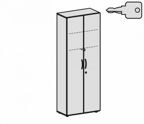 Geramöbel Garderobenschrank mit ausziehbarem Garderobenhalter, mit Standfüßen, inkl. Türdämpfer, abschließbar, 800x420x2160, AhornAhorn