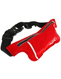 ELECTROPRIME Unisex Ultrathin Outdoor Running Waist Bag Sports Pockets Bag -Red - B075RHPT8Y