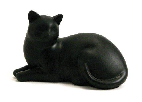 Near & Dear Pet Memorials Cozy Cat Resin Cremation Urn, 25 Cubic Inch, Black 1