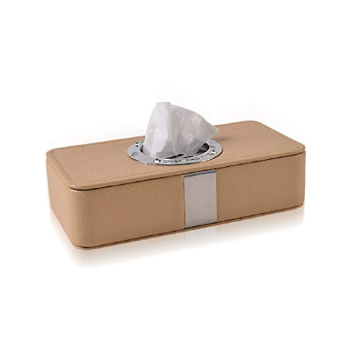 WAVENI Auto Sonnenblende Tissue Box Halter, Premium PU Leder Auto Faltbare hängende Papier Veranstalter Handtuch Serviette Pumping Box Cover für Auto Home Office verwenden, schwarz